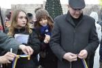 Жители Славянска проигнорировали всеукраинскую акцию Лента единства (фото)