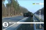 Британские броневики Saxon попали в аварию по пути на Донбасс, на трассе Киев Харьков (фото)