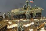 Диорама миниатюра скульптора Сергея Королёва на тему Донбасса (фото)