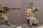 Диорама миниатюра скульптора Сергея Билецкого Блокпост ополчения Донбасса (фото)